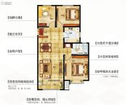 永泰城3室2厅1卫100平方米户型图