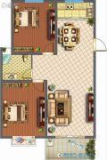 君悦国际花园2室2厅1卫99平方米户型图