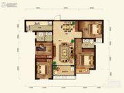 联诚雅郡4室2厅2卫107平方米户型图