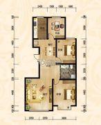 傲北上城3室2厅1卫131平方米户型图
