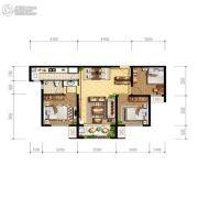 天朗玖悦都3室1厅1卫94平方米户型图