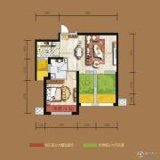 天居锦河丹堤1室2厅1卫73平方米户型图