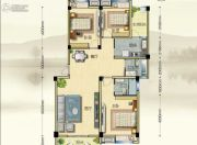 博大江山如画二期3室2厅2卫123--125平方米户型图