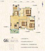 罗马中心城3室2厅2卫118平方米户型图