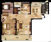 深业世纪新城3室2厅1卫103平方米户型图