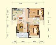金水湾2室2厅1卫75平方米户型图