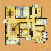 帝奥世伦名郡3室2厅2卫141平方米户型图