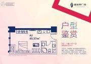 新世界广场1室1厅1卫45平方米户型图