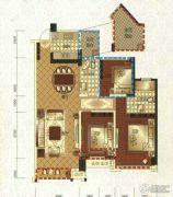 领地・国际公馆3室4厅4卫115平方米户型图