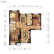 金地檀悦3室2厅1卫96平方米户型图
