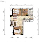 万锦・紫园3室2厅1卫84平方米户型图