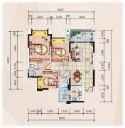 �R豪领逸3室2厅2卫98--109平方米户型图