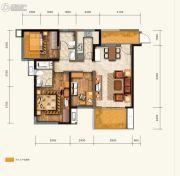 绿地中心云玺4683室2厅2卫109平方米户型图