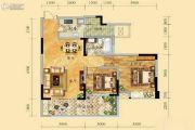 祥和御馨园二期2室2厅1卫93平方米户型图