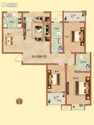 祝福红城3室2厅2卫0平方米户型图