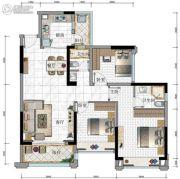 华发・又一城3期3室2厅1卫98平方米户型图