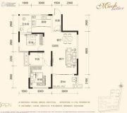 汇一城3室2厅1卫93平方米户型图