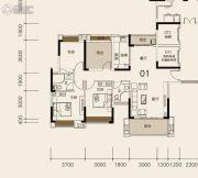 莱茵华庭4室2厅2卫120平方米户型图