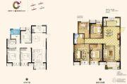 南京万达茂4室2厅1卫105平方米户型图