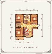 金鱼家园3室3厅1卫110平方米户型图