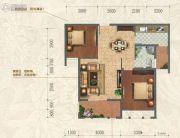 和信北郡2室2厅1卫84平方米户型图