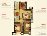 明月湾3室2厅1卫89--99平方米户型图