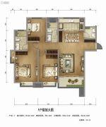万科高新华府3室2厅2卫138平方米户型图