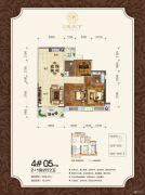 观天下2室2厅2卫99平方米户型图