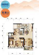 顺德碧桂园3室2厅2卫101平方米户型图