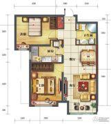 海亮滨河壹号2室2厅1卫87平方米户型图