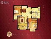 恒盛・皇家花园2室1厅1卫82平方米户型图