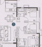 万科东荟城0室0厅0卫0平方米户型图