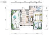 高新骊山下的院子1室1厅1卫0平方米户型图