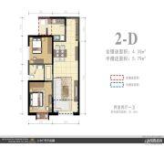 外滩名著2室2厅1卫0平方米户型图