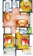 上书房3室2厅2卫129平方米户型图