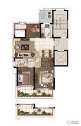 绿地华家池印3室2厅1卫0平方米户型图