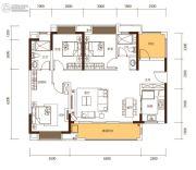 新城・鹿江风华3室2厅2卫120平方米户型图