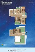 F 、水星城2室3厅3卫159平方米户型图