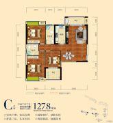 南湖颐景3室2厅2卫127平方米户型图