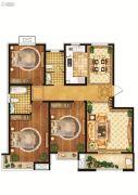 雍雅锦江3室2厅2卫134平方米户型图