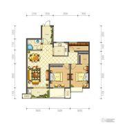 佳源巴黎都市3室2厅1卫104平方米户型图