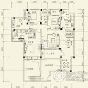 泰然南湖玫瑰湾5室2厅2卫170平方米户型图