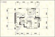 恒大名城2室2厅1卫86平方米户型图