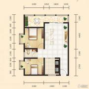昊天大厦二期2室1厅1卫80平方米户型图