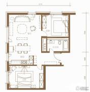 北京ONE2室2厅1卫113平方米户型图
