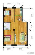 万泉・欧博城2室2厅1卫83平方米户型图