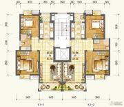 万达西双版纳国际度假区2室2厅1卫76--79平方米户型图