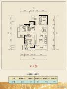 乐居・常青藤2室2厅1卫77平方米户型图