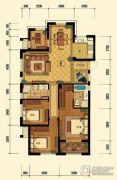 迎恩府3室2厅2卫125平方米户型图