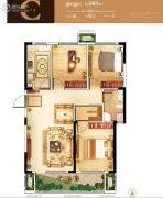 紫微台3室2厅1卫103平方米户型图